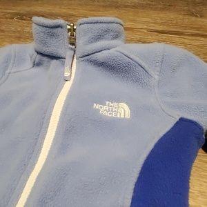 Girls size xxs 5 blue North Face Zip Fleece